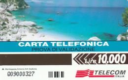 PHONE CARD PROTOTYPE NEW LIRE 10000 PROVA VALIDAZIONE (E77.7.8 - Tests & Services