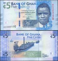 ♛ GHANA - 5 Cedis 04.03.2017 {60 Years Of Central Banking In Ghana 1957-2017} UNC P.43 - Ghana