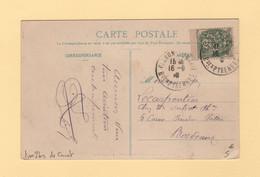 Type Blanc - Type I Bis De Carnet Sur Carte Postale 5 Mots - 1877-1920: Semi-moderne Periode