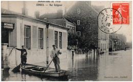 91 CORBEIL - Inondations De 1910 - Rue Galignani - Corbeil Essonnes