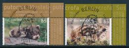GERMANY Mi.Nr. 3288-3289 Tierbabys - ESST Berlin - Eckrand Oben Rechts - Used - Gebruikt