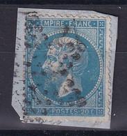 D 120 / NAPOLEON N° 22  OBL / VARIETE FILET BAS - 1862 Napoleon III