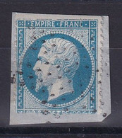 D 120 / NAPOLEON N° 22  OBL / VARIETE FILET HAUT - 1862 Napoleon III