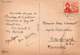 Autographe /signature  De L 'explorateur Yves Vallette Sur CP Envoyée De Novège - Autografi