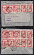 Peru 1937 Airmail Cover LIMA To HAMBURG Germany 15x 10c Inka Post Runner - Perù