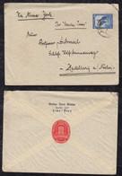 Peru 1936 Cover LIMA To HEIDELBERG Germany Berlin Olympia Cinderella Vignette - Peru