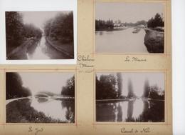 ° CHALONS SUR MARNE ° Lot De  Photos ° 1900 ° - Places