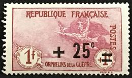 YT 168 (*) MH 1922 Orphelins De La Guerre Marseillaise De Rude (côte 36 Euros) – Isch - Unused Stamps