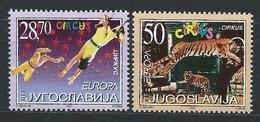 Yougoslavie YT 2921-2922 Neuf Sans Charnière XX - MNH Europa 2002 - Unused Stamps