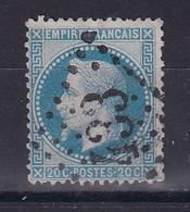 D 121 / NAPOLEON N° 29 OBL / VARIETE FILET HAUT - 1862 Napoleon III