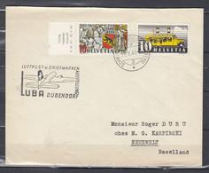 Brief Van Schweiz Automobil Postbureau Naar Neuewelt Baselland Luftpost U Briefmarken Luba Dubendorf - Covers & Documents