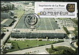 FRANCE (2020). Carte Maximum Card ATM LISA - Imprimerie De La Poste 50 Ans, Périgueux, Stamps Printing - 2010-...