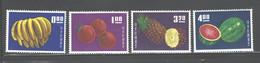 "TAIWAN,1964, ""FRUITS"" #1414 - 1417 MNH - Nuevos"