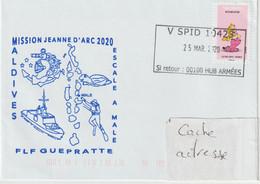 13730  Frégate GUÉPRATTE - MISSION JEANNE D'ARC 2020 - Escale à MALÉ - Posta Marittima