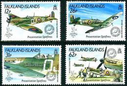 Falkland 1990 Stamp World London Bataille Angleterre Battle Of Britain Supermarine Spitfire I - Seconda Guerra Mondiale