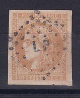 D 123 / BORDEAUX N° 43B OBL COTE 110€ - 1870 Bordeaux Printing