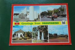 A9 / GREETINGS FROM PARAMARIBO  BLASON  SURIMAME AMERIQUE - Suriname