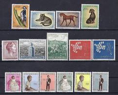 Luxembourg-Luxemburg - Timbres  1961  4 Séries  MNH ** - Blokken & Velletjes