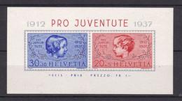 Schweiz - 1937 - Michel Nr. Block 3 - Ungebr. - Blokken