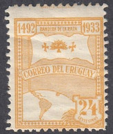 Uruguay, Scott #437, Mint Never Hinged, Flag Of The Race And Globe, Issued 1933 - Uruguay