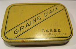 Ancienne Boite Grains D'AIX. CASSE .AIX En PROVENCE. - Scatole
