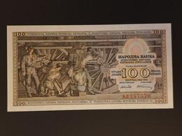 "Yugoslavia 1953, 100 Dinara (P-68) ""Locomotive"" UNC- / Jugoslavija 1953, 100 Dinara (P-68) ""Lokomotiva"" UNC- - Yougoslavie"