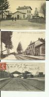 70  - Haute Saone - Lot De 3 Cartes - Faverney - Gray - Champlitte - 3 Gares - Faverney Couleurs Toilée - - Andere Gemeenten