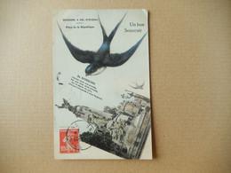 Dept 02 Un Bon Souvenir De Soissons  ' A Vol D' Oiseau ( Hirondelle )  ( Ecrite + Timbre 1908 ) - Soissons