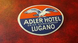 Old Hotel Label - Switzerland, Adler Hotel, Lugano - Altri