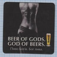 UKRAINE BEER Mat BIER Coaster Craft Beer Private Brewery RODBRAU. Vyshhorod. Kyiv Region. - Portavasos