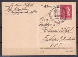 Deutsches Reich - 1938 - Propagandakarte - München Hauptstadt Der Bewegung - Sonderstempel - Enteros Postales