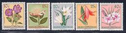 Belgian Congo, Scott # 263-7 MNH Part Set Flowers, 1952 - 1947-60: Mint/hinged