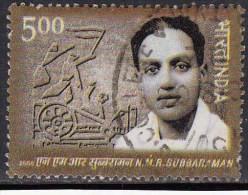 "India Used 2006,  N M R Subraman, ""Madurai Gandhi"" Freedom Fighter, Flag, Charka  (sample Image) - Used Stamps"