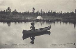 Lorette Indien Huron Dans Sa Pirogue D'Écorce, Québec, ND Photo #324 (21.97) - Andere