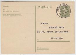 Ganzsache Mit IDAR (NAHE) 2.12.32 Nach Oberstein - Brieven En Documenten