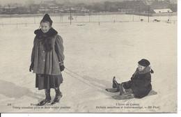 L'Hiver Au Canada - Enfants Canadiens Et Traîne-sauvage, Québec, ND Photo #574 (21.108) - Zonder Classificatie