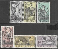 Czechoslovakia    1960    Sc#1007-12  Birds Set MLH   2016 Scott Value $9.45 - Unused Stamps