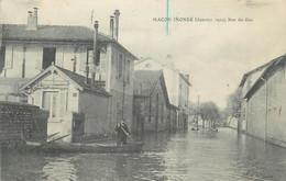 """CPA FRANCE 71 """"Macon, Inondé, Janvier 1910, Rue Du Gaz"""" - Macon"""