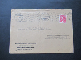 Böhmen Und Mähren 1944 Hitler Nr. 96 EF Wirtschaftsgruppe Sägeinsdustrie  An Revisor Der Abtl. Forsten Lemberg - Briefe U. Dokumente