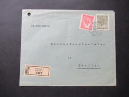 Böhmen Und Mähren 1942 Nr. 29 Und 72 Einschreiben Friedeck 1 / Frydek 1 An Den Reichsforstminister In Berlin - Briefe U. Dokumente