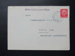 Böhmen Und Mähren 23.10.1939 Deutsche Dienstpost BuM Vom Justizinspektor Stürmer Prag XIX Deutsches Oberlandesgericht - Briefe U. Dokumente