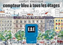 Publicité - EDF - Confort électrique - Compteur Bleu à Tous Les étages - 1964 - Publicité