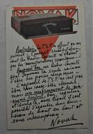 CPA 1928 Publicité TSF Appareillage Automatique Novak, Avenue E Demolder, Bruxelles - Pubblicitari