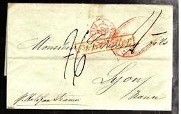 43180 B - Avec Cachet  D'achemineur  Pour La France - …-1845 Vorphilatelie