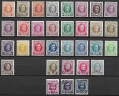 OBP190/210 + 245/48 + 254/57 + 273/75, Postfris** - 1922-1927 Houyoux