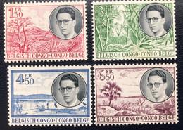 Congo Belge - Belgisch Congo - T2/5 - MNH - 1955 - Michel 322#325 - Koning Op Reis Door Congo - Cat € 45,00 - 1947-60: Mint/hinged