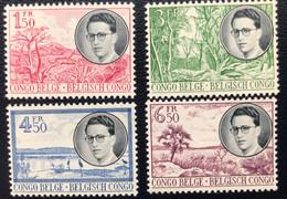 Congo Belge - Belgisch Congo - T2/5 - MNH - 1955 - Michel 326#329 - Koning Op Reis Door Congo - Cat € 45,00 - 1947-60: Mint/hinged