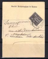 Imprimé Sous Bande De La Société Archéologique De Nantes, 1896. - 1849-1876: Période Classique