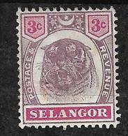 Malaisie  Selangor     N° 13  Tigre     Neuf  (* )   B/TB   Voir Scans   Soldé  ! ! ! - Selangor