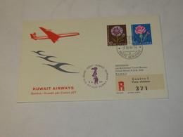 Switzerland First Flight Cover To Kuwait Genova - Kuwait 1964 - Unclassified